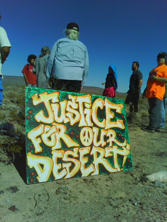 Justice For Our Desert at NDE